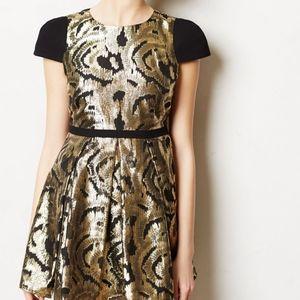 ❌SOLD❌Hunter Dixon Jacquard Fit & Flare Mini Dress
